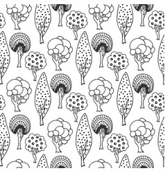 Hand drawn seamless pattern with abstract doodle vector