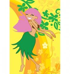 hula dance vector image vector image