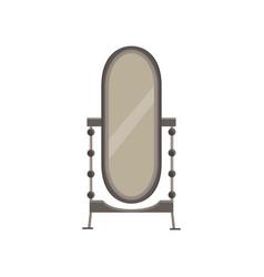 Mirror floor interior room background design vector