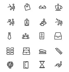 Office Line Icons 4 vector image