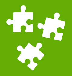 puzzle icon green vector image