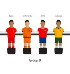 Table football soccer players group b vector