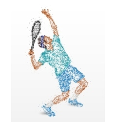 Tennis player abstraction vector image vector image