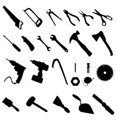 Tools silhouette set vector
