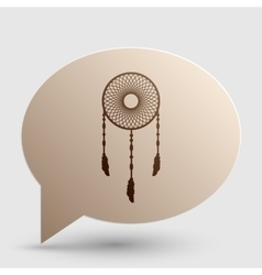 Dream catcher sign brown gradient icon on bubble vector
