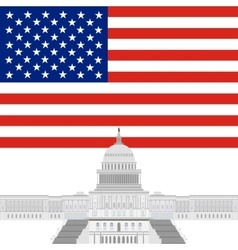 Capitol of the united states vector