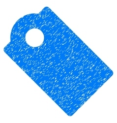 Tag grainy texture icon vector