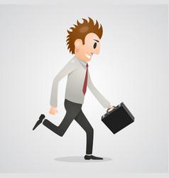 office man running vector image