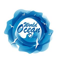 world ocean day vector image