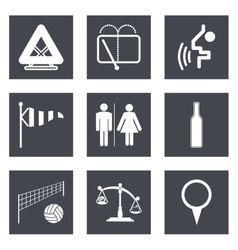 Icons for Web Design set 45 vector image
