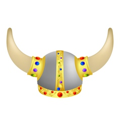 Viking helm with gems vector