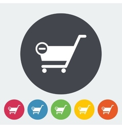 Cart flat single icon vector