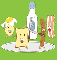 Breakfast cartoon vector