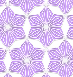 3d colored purple geometrical star vector