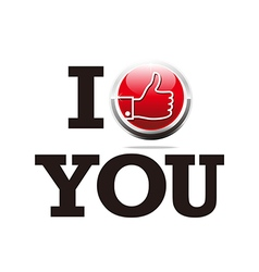 Abstract logo thumb up i like you design symbol vector