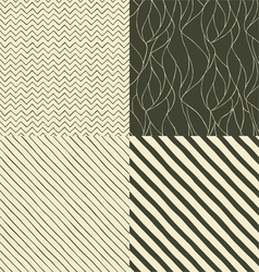 Set seamless patterns vector