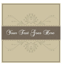 Simple beige invitation card vector