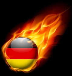 Round glossy icon of germany vector