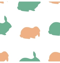 Farm rabbit silhouettes vector