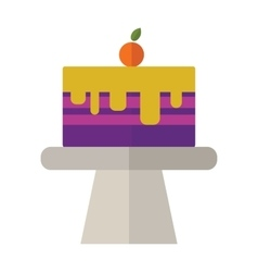 Sweet cake  fresh dessert vector