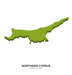 Isometric map of northern cyprus detailed vector