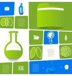 Medical sticker infographic vector