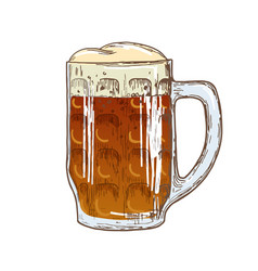 beer mug on white background vector image vector image