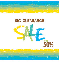 Big clearance sale banner for advertising design vector