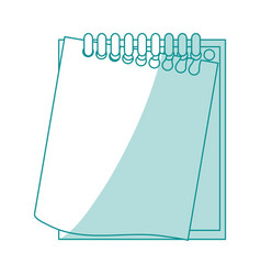 blue silhouette shading notebook spiral with vector image