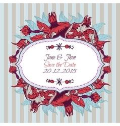 Bright invitation with floral pomegranate ornament vector image vector image
