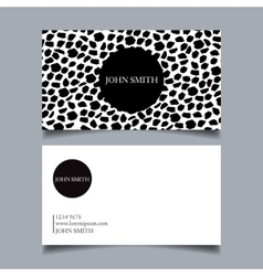 Business card design project vector