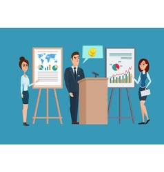 Business professional work team meeting concept vector image