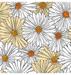 Camomiles seamless background vector image vector image