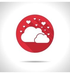 cloud hearts icon Eps10 vector image vector image