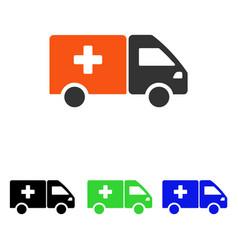 drug shipment flat icon vector image vector image