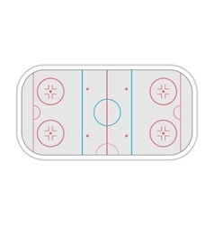Field ice hockey vector image vector image