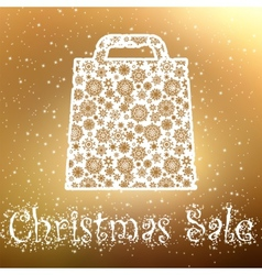Gold Christmas sale Background EPS 8 vector image