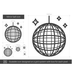 mirror ball line icon vector image vector image