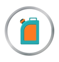 Oil jerrycan icon in cartoon style isolated on vector