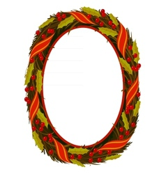 oval wreath frame vector image