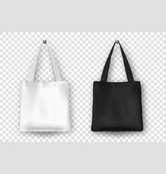Realistic black and white empty textile vector