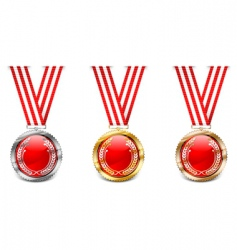 red medals vector image vector image