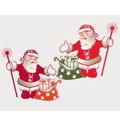 Santa Claus with a bag vector image vector image