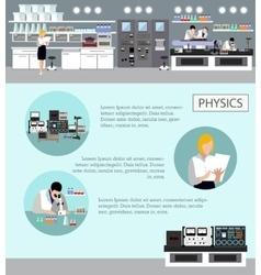 Scientist working in laboratory vector
