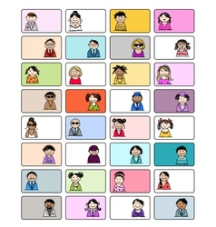 Set of business cards with people icons for your vector image vector image