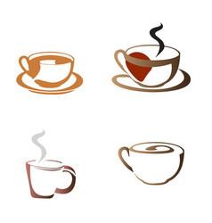 set of coffee logos vector image vector image