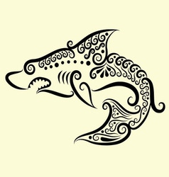 Shark decorative vector image vector image
