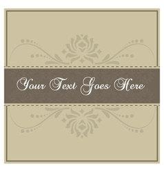 Simple beige invitation card vector