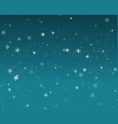 Snow fall in blue sky christmas night background vector