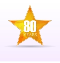 Star background anniversary 80 vector